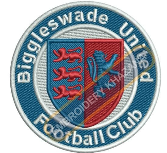 Biggleswade united football club logo embroidery design