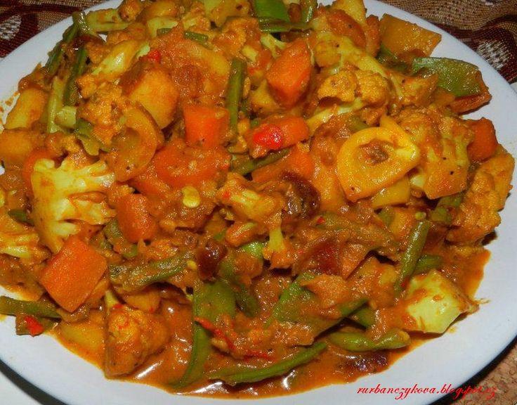 Restovaná zelenina /indický způsob/