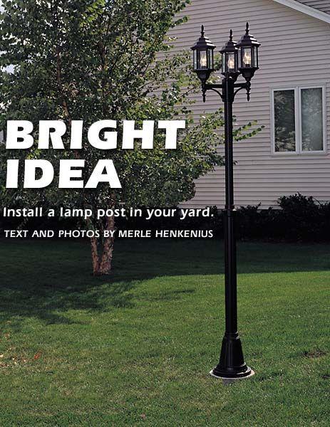 17 best lamp post ideas on pinterest garden lamp post light posts. Black Bedroom Furniture Sets. Home Design Ideas
