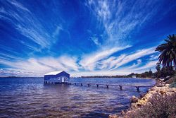FEA-0007236 © WestPix The old boatshed on the Swan River Perth. Picture: Shaun Fearn