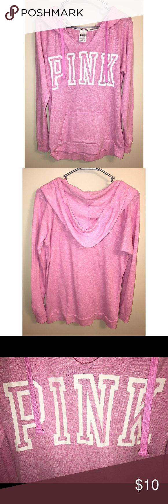 Victoria's Secret Pullover XS Victoria's Secret Pullover Hoodie, soft pink color, washer per instructions. PINK Victoria's Secret Tops Sweatshirts & Hoodies