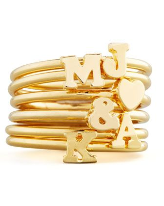 stackable initial ring - great for Mother's Day