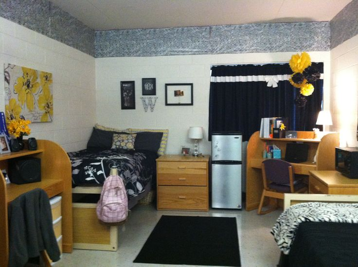 Homey dorm room setup fall 12 pinterest kid white for Cool dorm room setups