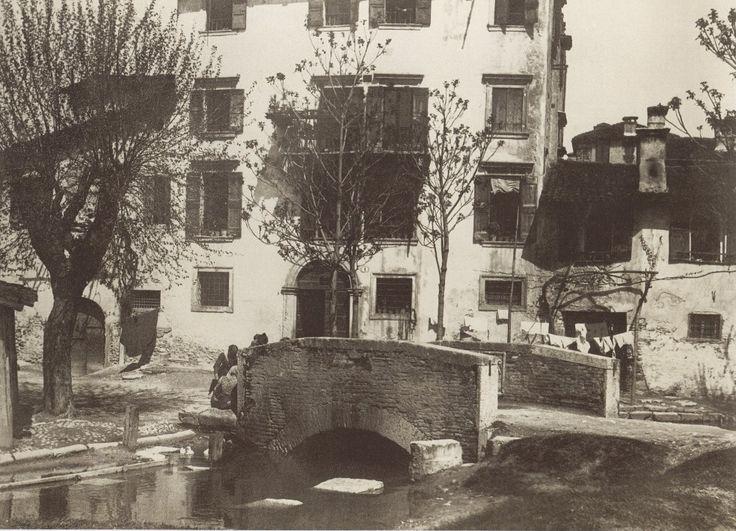 1895 - Un piccolo ponte sul Fiumicello in Campofiore.