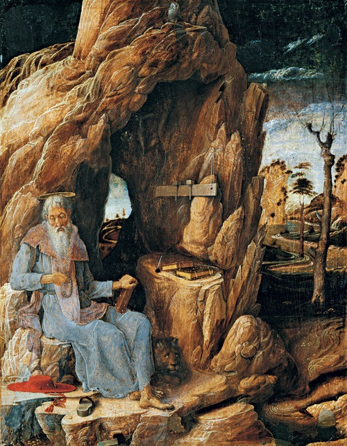 Andrea Mantegna, St. Jerome in the Wilderness, 1449-1450