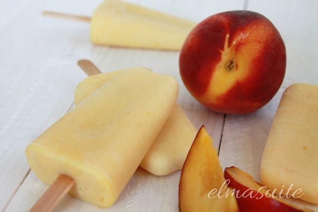 Rezept Pfirsich-Joghurt-Eis am Stiel ohne Eismaschine - elmasuite http://www.elmasuite.de/pfirsich-joghurt-eis-am-stiel/