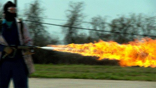 The Slow Mo Guys  50 ft Flamethrower in 4K Slow Motion