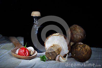 Natural autumnal food ingredients