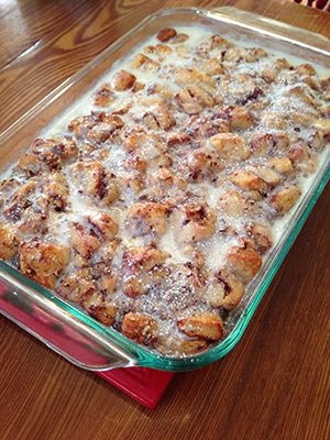 Christmas morning?? Cinnamon French Toast Bake using Pillsbury Cinnamon Rolls!