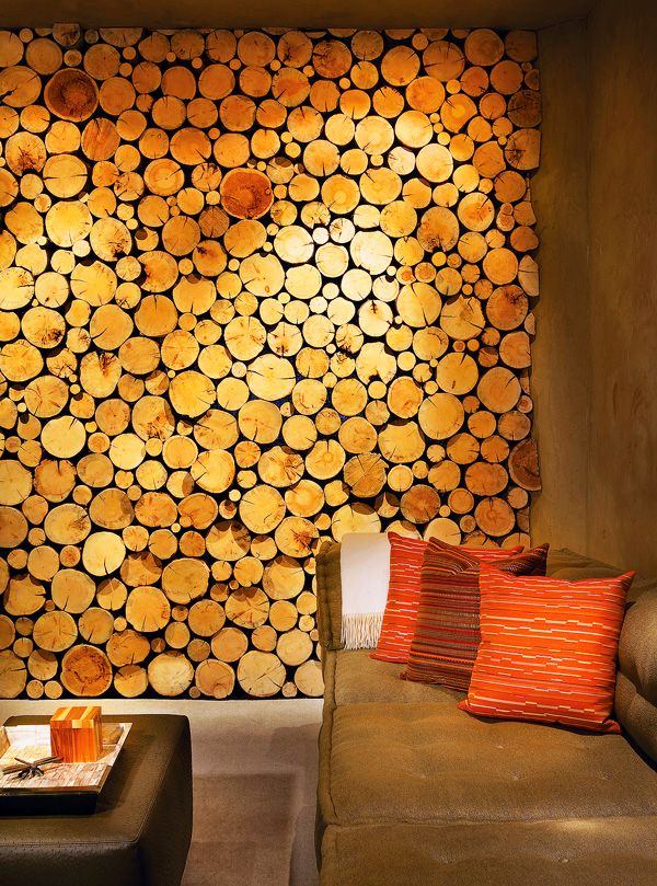 Wood Wall Covering Ideas 25+ best log wall ideas on pinterest | log table, wood rounds and