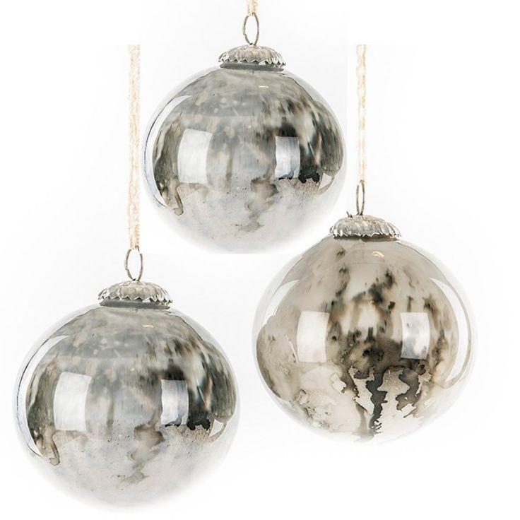 Julgranskulor marmor marmorerade julgranskulor glas fattigmanssilver julpynt juldekor Online