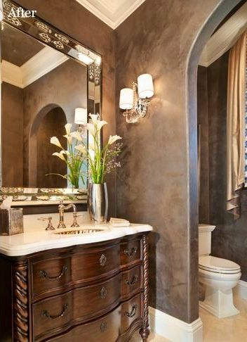 108 best powder rooms small bathrooms images on. Black Bedroom Furniture Sets. Home Design Ideas