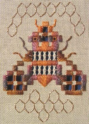 Busy Bee Hardanger bell pull