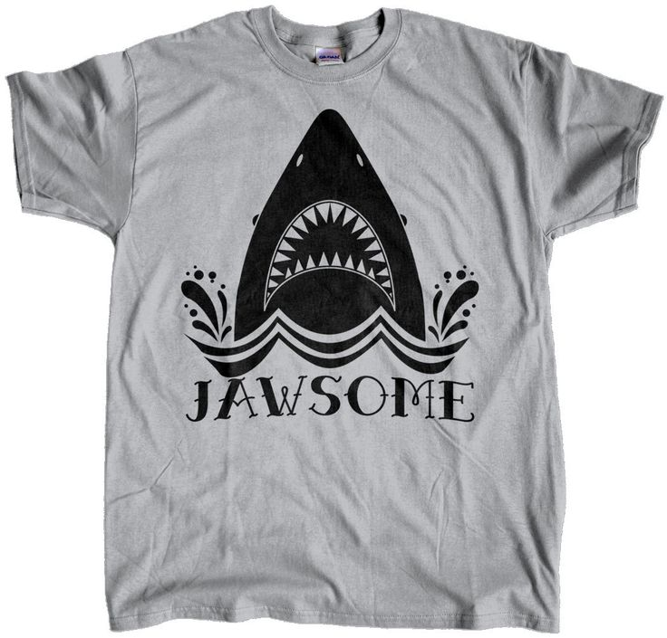 Jawsome, Mens t shirt, tee shirt, Shark Week, Custom Printed Tee by TheCozyBear on Etsy https://www.etsy.com/listing/239973366/jawsome-mens-t-shirt-tee-shirt-shark