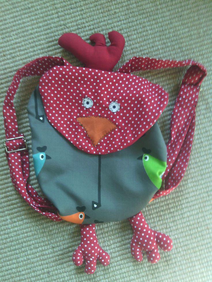 """Petit sac à dos """"poule"""" pour la maternelle"""