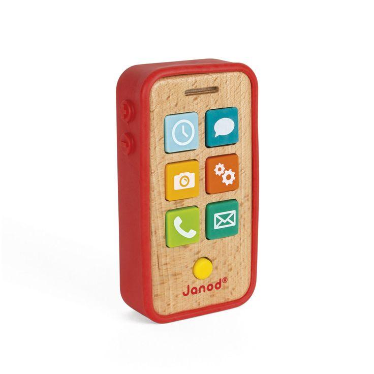 Votre enfant est jaloux de votre téléphone ? Très esthétique, ce téléphone va le ravir grâce à ces 7 touches sonores en plastique. En plus de développer son imagination, il va adorer pouvoir faire comme les grands : il gère ses e-mails, son réveil, sa sonnerie, l'appareil photo, ses sms ou les réglages de son téléphone ! Les différents sons qui sortent de son téléphone donnent du réalisme à ses histoires !
