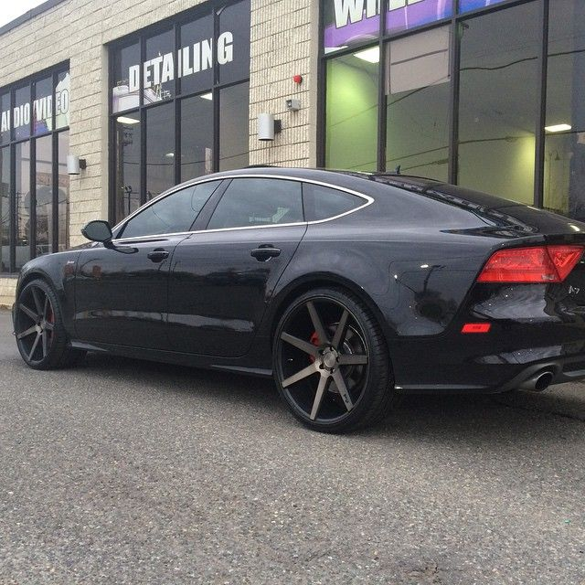 "22x10.5"" on all four corners of this Audi A7 @nicheroadwheels #audiusa #a7 #audifans #audi #houseofdubs #hod #dmv #dontridestock #black #rims #custom #nichewheels http://thehouseofdubs.net"