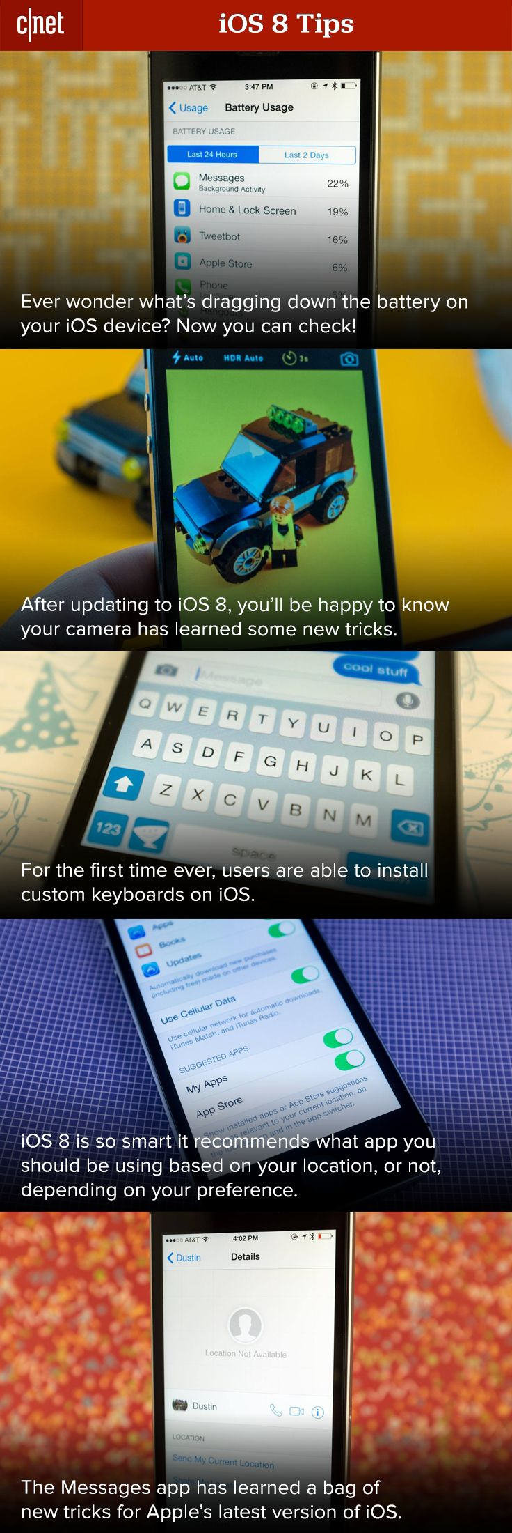 iOS 8 looks to be one of the biggest updates to Apple's mobile platform with new features galore. We've compiled a list of tips and tricks to help you navigate the newest iOS.