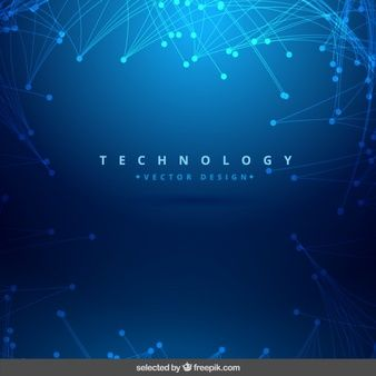 Blue Information Technology Graphic