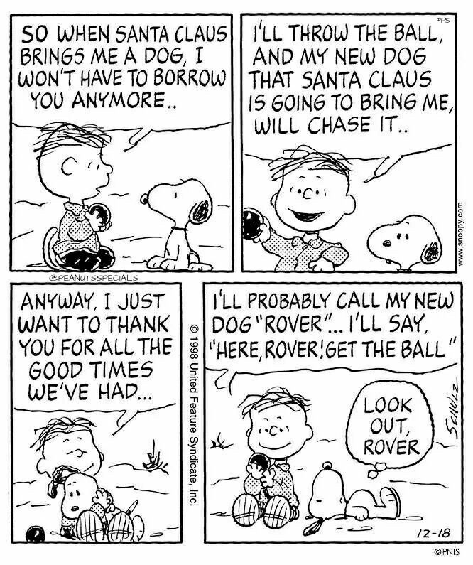 #peanutsspecials #ps #pnts #schulz #snoopy #linus #santaclause #dog #thankyou #goodtimes #rover #lookoutrover