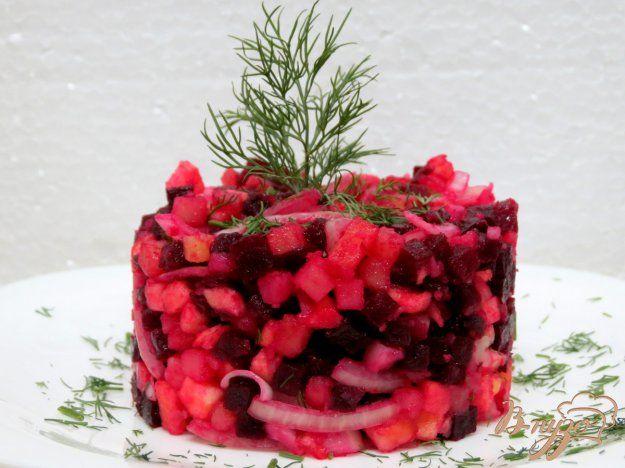 Салат из свеклы и яблока - пошаговый рецепт с фото