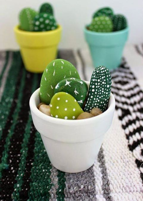 Stone Cacti don't require any special treatment at all 😂 #handmade #art #design