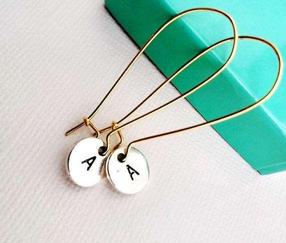 Personalized Earrings  Initial Earrings  Dangled Initials