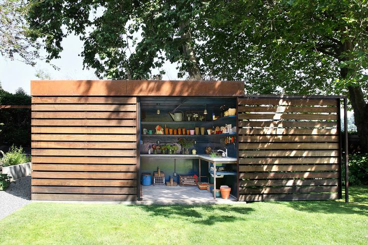 Suncast Storage Shed Garage and Shed Contemporary with Boxy Built in Shelves Flat Roof Garden Shed Garden Tools Grass Lawn