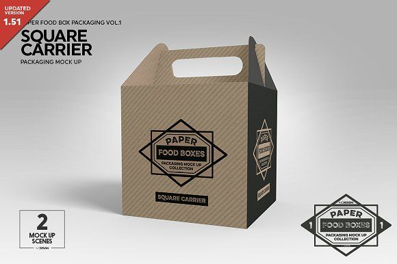 Download Square Carrier Packaging Mockup Packaging Mockup Free Packaging Mockup Business Card Logo