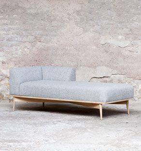 Méridienne, canapé. GENTLEMEN DESIGNERS // Mobilier vintage scandinave et création sur-mesure, fabrication française artisanale.