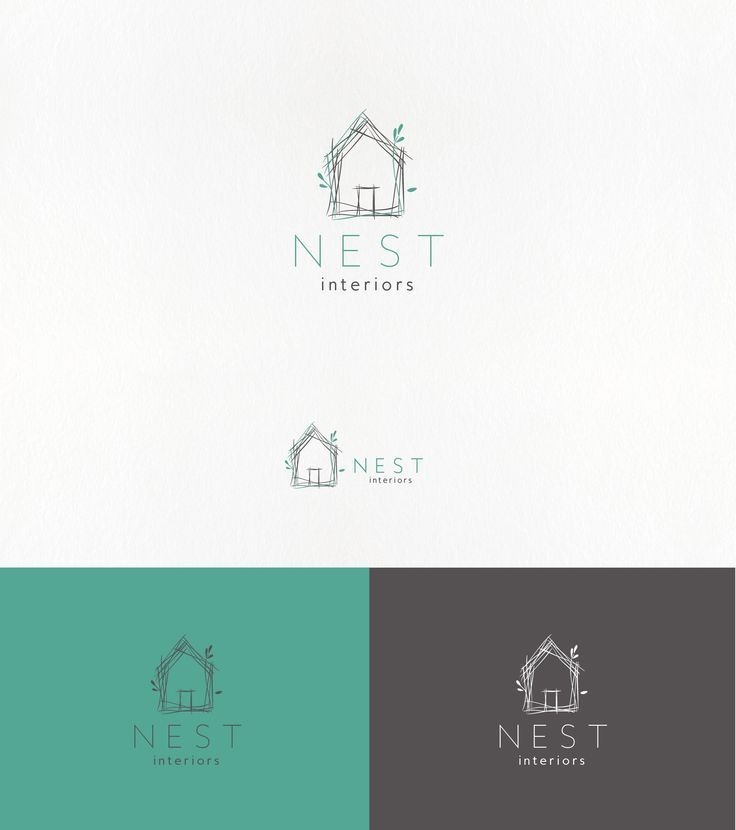 Handdrawn Minimal Logo For An Interior Design Company With Images