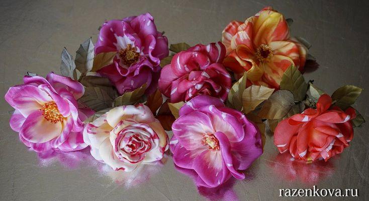 Вышивка лентами Зубковой Ирины | Розы, Цветы, Вышивка лентами