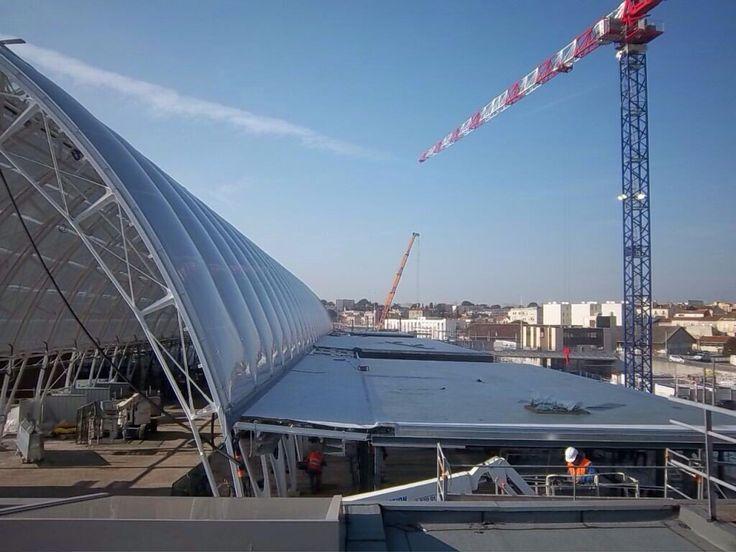 Gare de Montpellier Saint Roch - limite entre les 2 tranches de travaux - Arep / MaP3