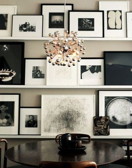 looks like something from another galaxy: Picture, Dining Rooms, Idea, Lights Fixtures, Black And White, Galleries Wall, Photo Wall, Black White, Art Wall