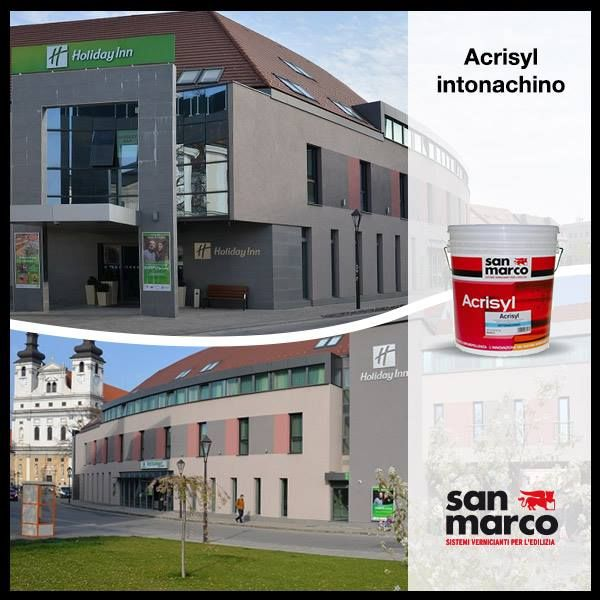 Another achievement signed by San Marco who worked for the Holiday Inn of Tarnava in Slovakia, using the outdoor wall coating ACRISYL Intonachino.   A big thank you and a well-deserved mention goes to our partner's San Marco SK!   More informations in our website: http://www.san-marco.com/ita/referenze/holiday-inn-trnava.php