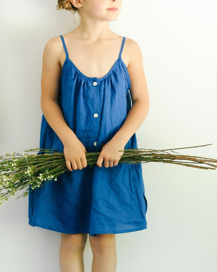 Prim Dress - Cobalt linen - Soor ploom- this is for a little girl but I'd wear it if it came in ladies sizes!