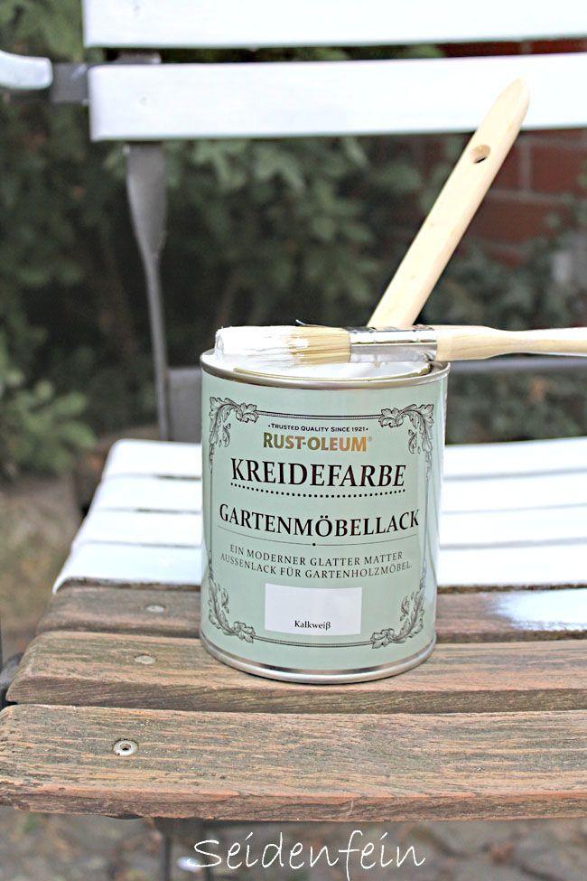 Seidenfeins Blog Vom Schonen Landleben Gartenmobel Rettung Mit Kreidelack Garden Furniture Resc Selbstgemachte Gartenmobel Gartendeko Selbstgemacht Kreide