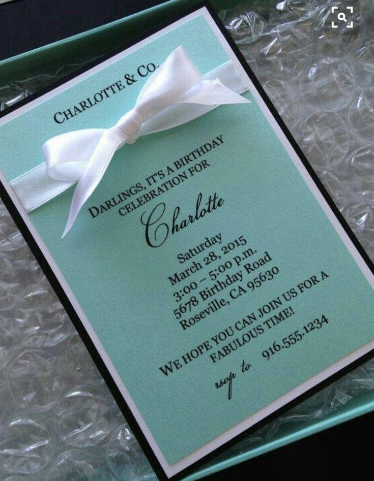 Tiffany & Co. Inspired Birthday Invitation by MWPartyStudio on Etsy https://www.etsy.com/listing/495207954/tiffany-co-inspired-birthday-invitation