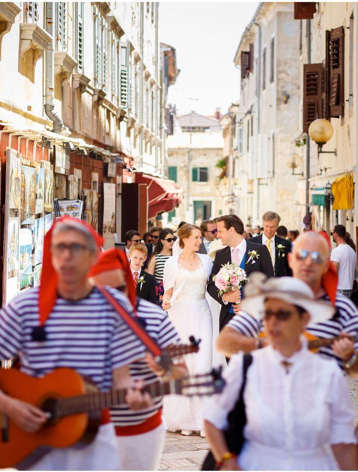 Wedding in Porec, Istria Croatia - Sicilian marching band; photo by Iconoclash Photography