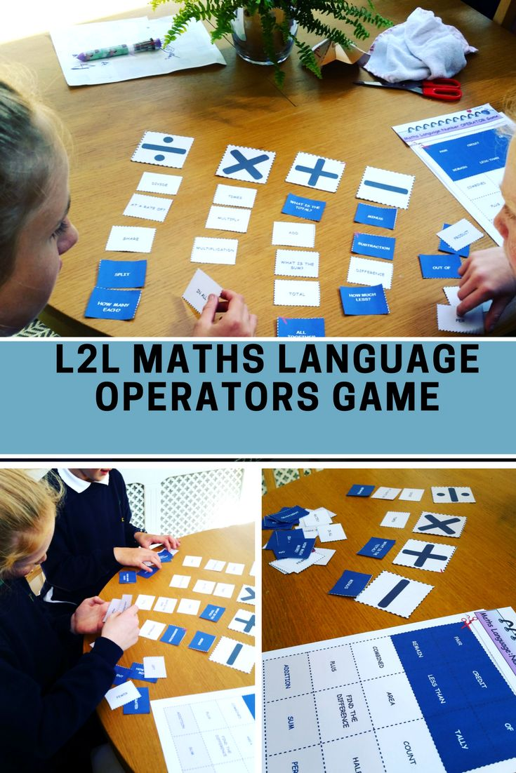 This is a MATHS LANGUAGE GAME/ACTIVITY. I use it to very effectively engage students of all abilities in active learning of Maths language, specifically words that can be associated with ADD, SUBTRACT, DIVIDE & MULTIPLY. This ACTIVITY includes 6 pages containing 60 WORDS and the 4 OPERATORS. which can be cut into individual pieces. The objective of the task is for the student (or group of students) to match the words with the operators. #lessonplans #operators #MathsGames #MathsWorksheets