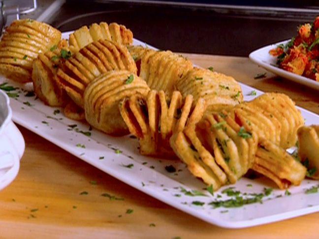 Hasselback Roasted Potatoes Recipe : Robert Irvine : Food Network - FoodNetwork.com