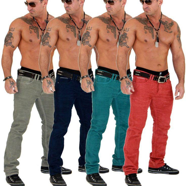 Super Stylische Clubwear Design Herren Chino Cord Jeans Hose Top Neu 899 | eBay