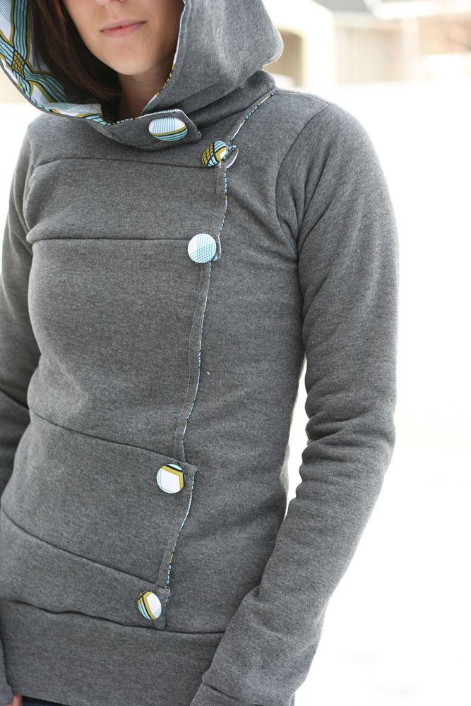 Button down hoodie