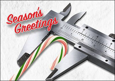 Make sure your business measures up against the competition and market your company during the holiday season with the Engineers Tools Christmas Card. Fully customizable with your company name, logo, and artwork, the Engineers Tools Christmas Card comes with many free upgrades, so you can choose your colors and fonts, include a personal message, and select from a variety of envelopes that can be printed with your return address. The front is detailed with a colorful candy cane and a season's…