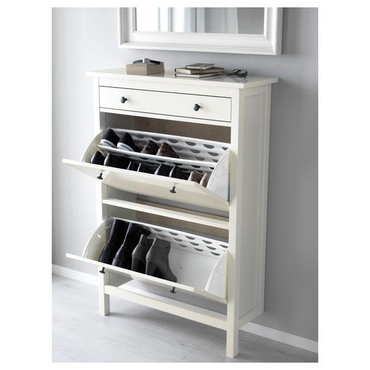 HEMNES ayakkabı dolabı beyaz 89x30x127 cm | IKEA Antre ve Ardiye Çözümleri