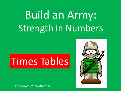 """""""Build an Army"""" is a fun, strategy game that can be used to consolidate understanding of key mathematical concepts. After students have played the game and..."""