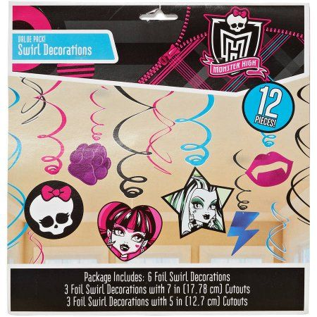 Free Shipping on orders over $35. Buy Monster High Hanging Decorations, Party Supplies at Walmart.com