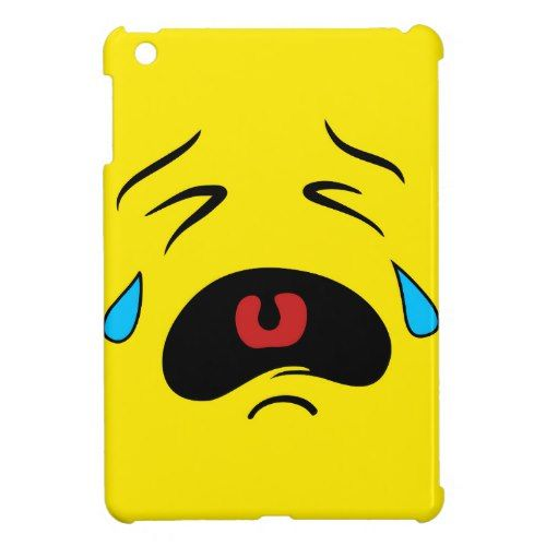 Super Sad Crying Face Emoji iPad Mini Cases