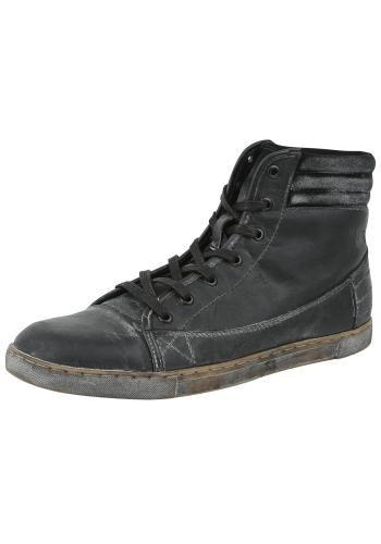 Vonkajší materiál: 100% koža, gumová podrážka Podšívka: 100% bavlna Originálne topánky R.E.D. by EMP - Vintage Sneaker  - Výška sáry: 11 cm - Vintage štý