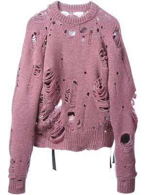 Shop Maison Margiela distressed sweater.